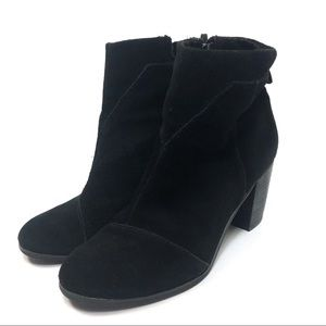 Toms Black Suede Ankle Bootie